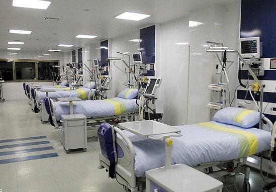 بخش های بستری بیمارستان دکتر علی شریعتی